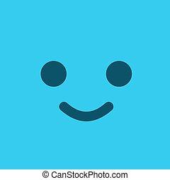 blue flat face