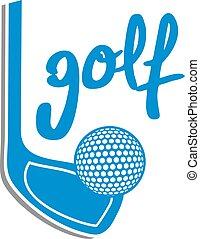 blue golf icon