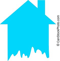 blue house icon