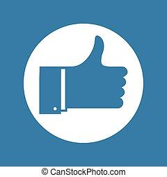 blue like sign - Creative design of blue like sign