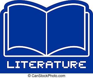 blue literature symbol - Creative design of blue literature...