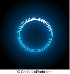 blue neon circle design