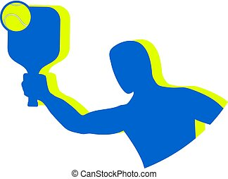 blue padel symbol
