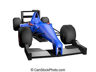 Blue render car