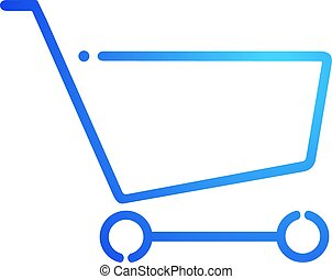 blue shopping cart flat icon