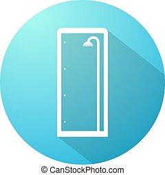 blue shower enclosure symbol - Creative design of blue...