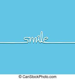 blue smile message