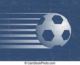 blue soccer ball symbol