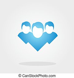 blue symbol design