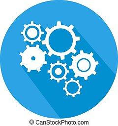 blue tech symbol