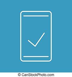 blue true check icon - Creative design of blue true check...