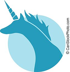 blue unicorn symbol