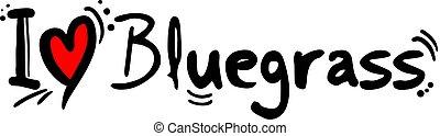 Creative design of Bluegrass love symbol