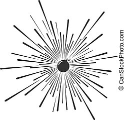 bomber explotion draw - Creative design of bomber explotion...