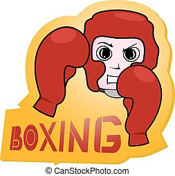 Boxing sticker
