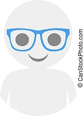 boy with glasses icon