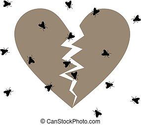 broken abandoned heart - Creative design of broken abandoned...