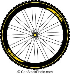 btt bike wheel draw