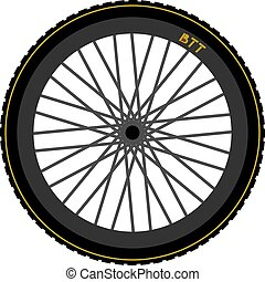 Btt bike wheel