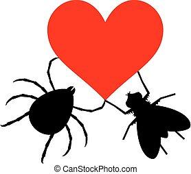 Bug love - Creative design of Bug love