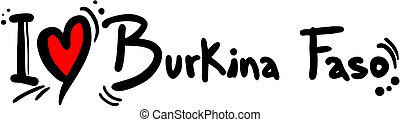 Burkina Faso love - Creative design of Burkina Faso love
