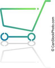 buy shopping cart flat icon