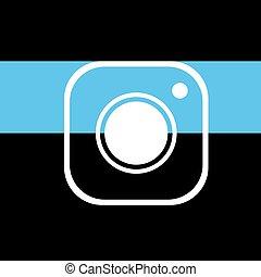 cam icon - Creative design of cam icon