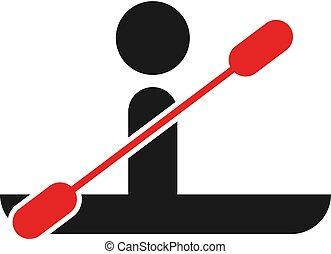 canoeing icon illustration