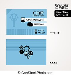 Business card automotive mechanic car repair retro business car machuine business card reheart Image collections