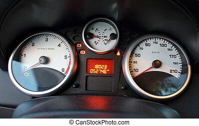 Car velocity panel