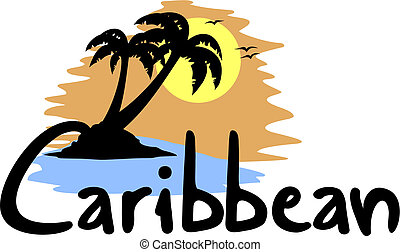 Caribbean beach - Creative design of Caribbean beach
