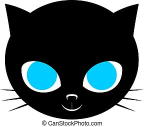 cat with blue eyes - Creative design of cat with blue eyes
