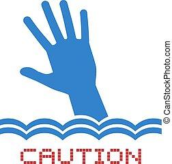 Creative design of caution swiming zone