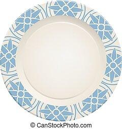 ceramic dish illustration - Creative design of ceramic dish...