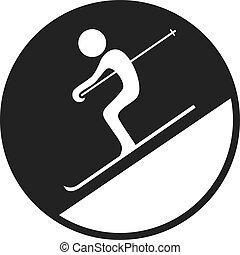 circle skiing sign