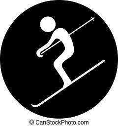circle skiing symbol