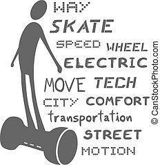 City transportation illustration