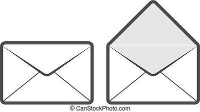 close and open envelope draw