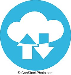cloud data transmission icon