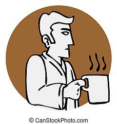 Creative design of coffe icon