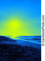 color art beach background