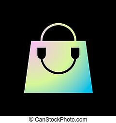 color art fashion shopping bag - Creative design of color...