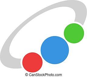 color bracelet icon - Creative design of color bracelet icon