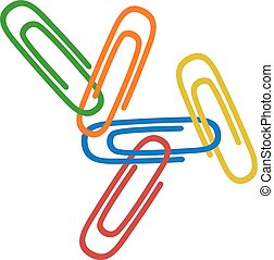 color clips illustration - Creative design of color clips ...