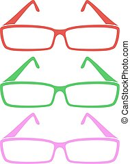 color eyeglasses casual style draw
