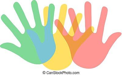 color hands symbol