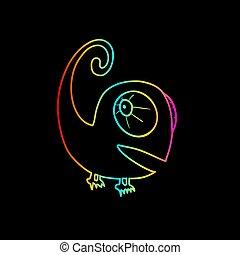 colorful chameleon - Creative design of colorful chameleon