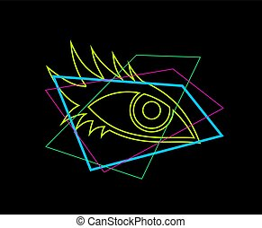 colorful eye illustration