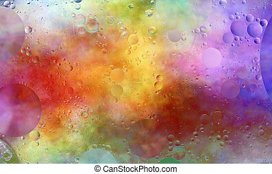 Creative design of colorful wet background