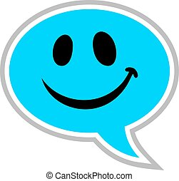 comic happy face icon